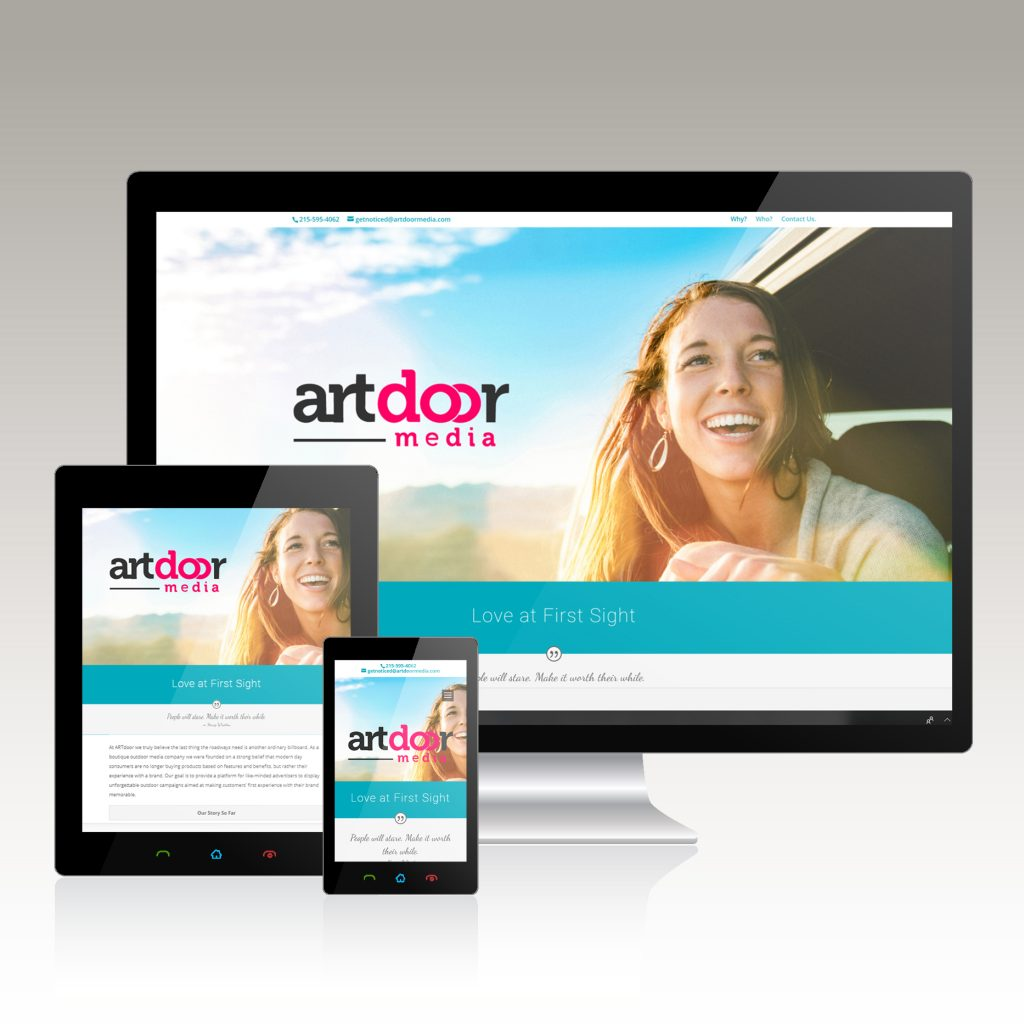 Advertising Company Website Design