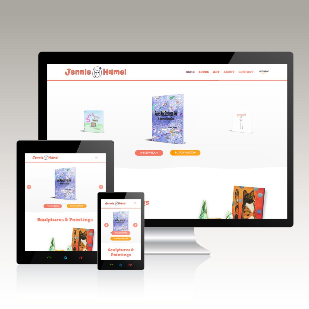 website design for author