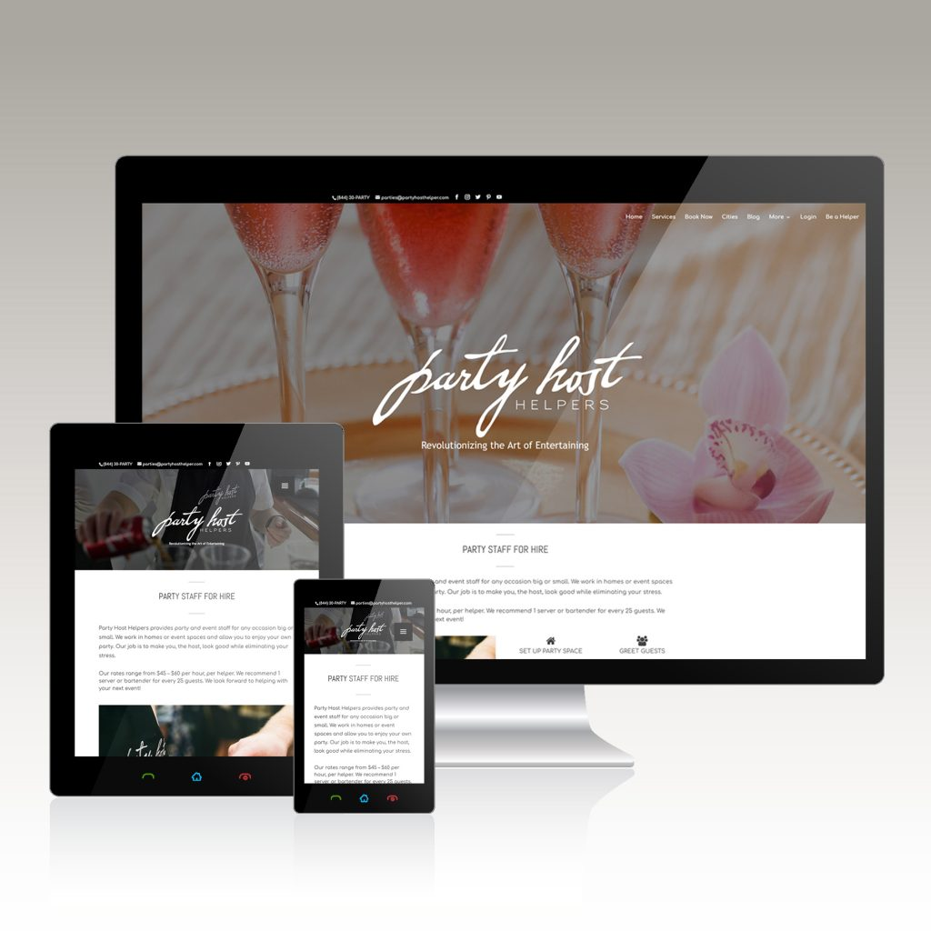 Party Service Website Design