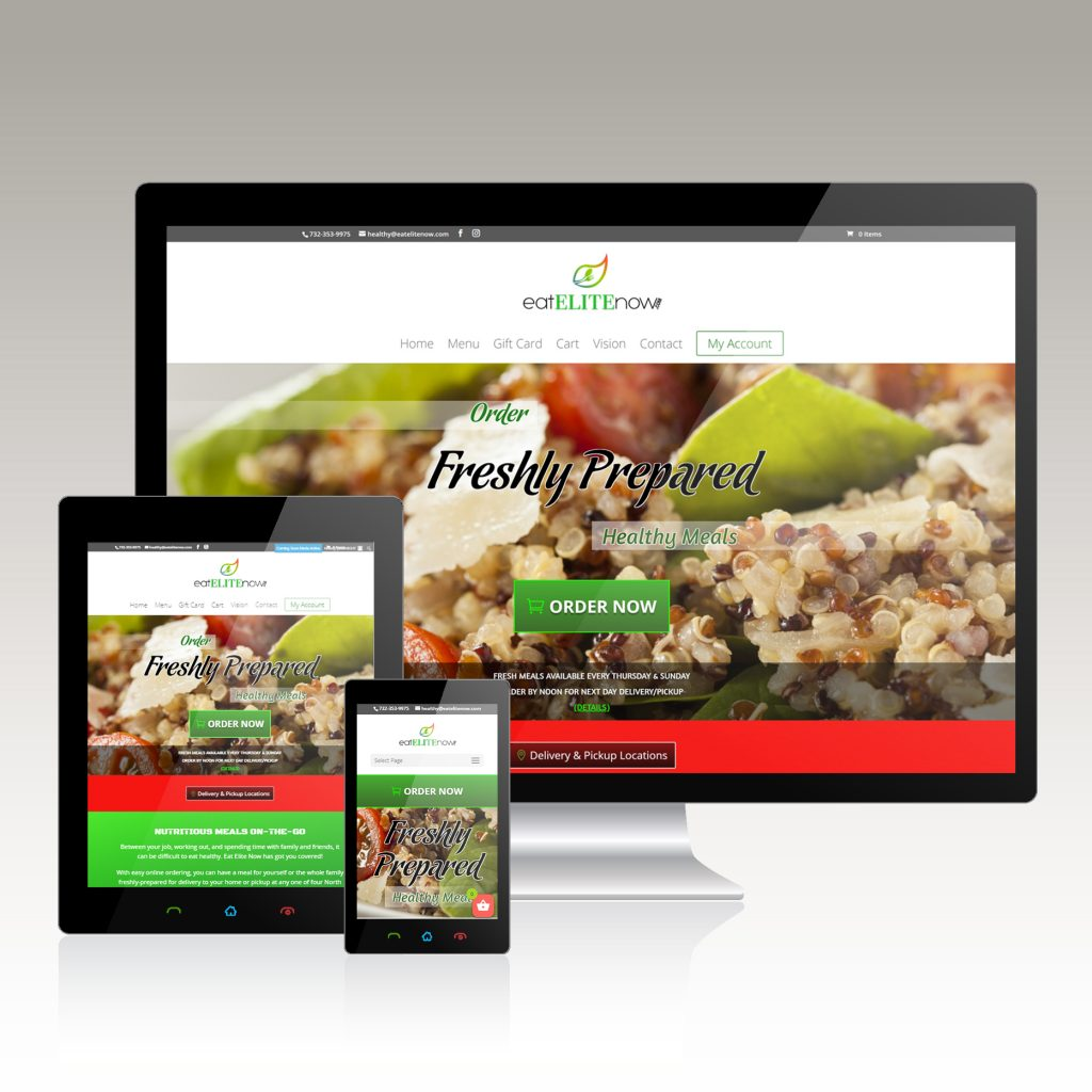 website design food delivery service
