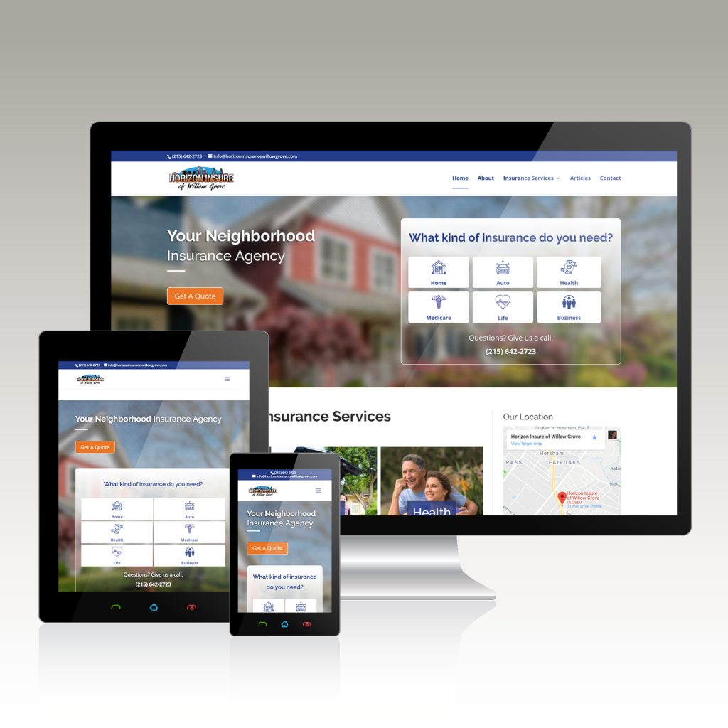 Insurance Co. Website Design