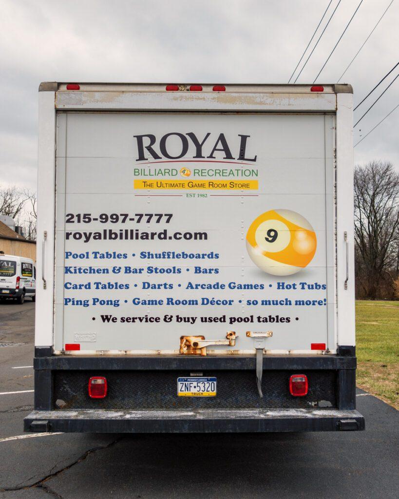 Box Truck Graphic Wrap Design - Rear