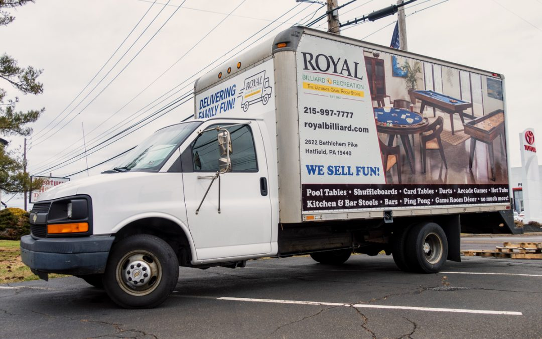 New Box Truck Wrap Graphics for Local Retail & Service Store