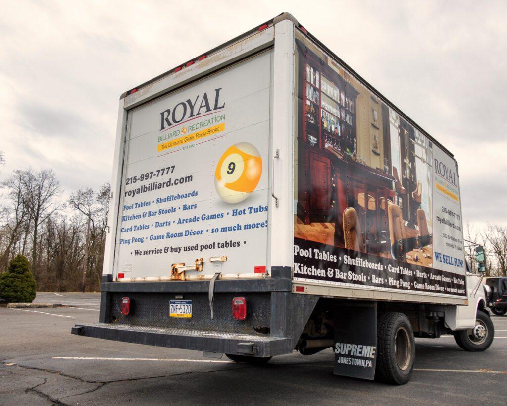 Box Truck Graphic Wrap Design - Rear 2