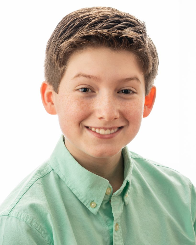 Headshot photographer for young male actor