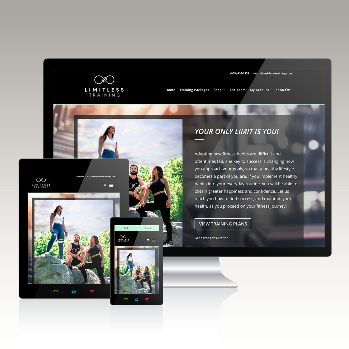 Example of a website built for a personal trainer